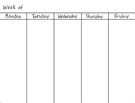 two week calendar template excel