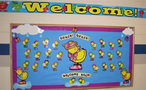 bulletin board design for home economics quack quack welcome back bulletin boards pinterest