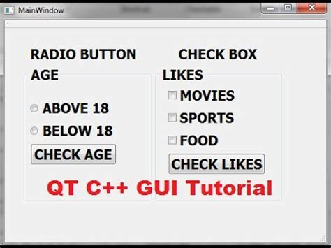 qt tutorial c gui qt c gui tutorial 30 how to use qcheckbox and
