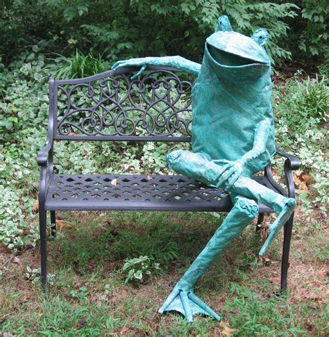frog bench new work at one of a kind gallery in charleston sc beau
