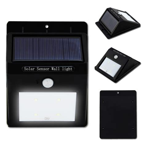 bright solar wall lights bright 4 led wireless solar powered motion sensor wall