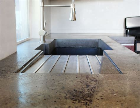 concrete countertop with integrated integrated drainboard stone google search stevens
