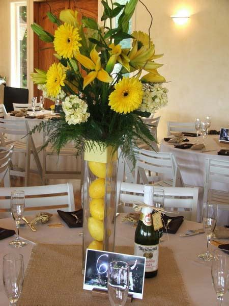 yellow flower eco craft ideas for floral table decoration