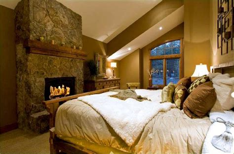 cozy master bedroom cabin mountain theme room inspirations bedrooms master