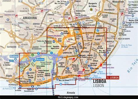 printable map lisbon maps update 44003129 lisbon tourist attractions map
