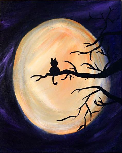 easy cat painting ideas harvest moon original painting cat