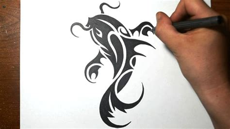 how to draw a tattoo design simple tribal to draw amazing