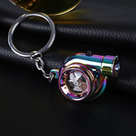 turbo sleeve car led turbo keychain sleeve spinning turbine