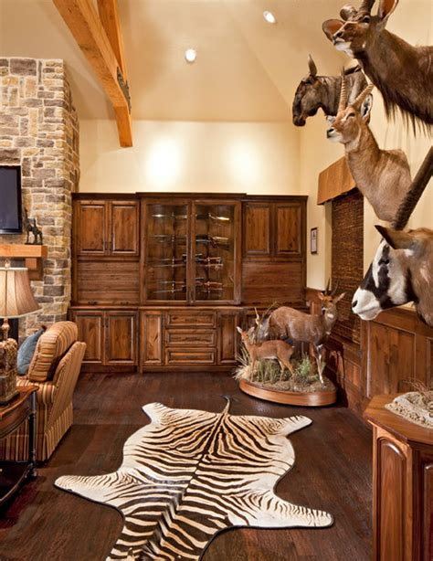 Classy Home Interiors this trophy room is a real man cave traditional