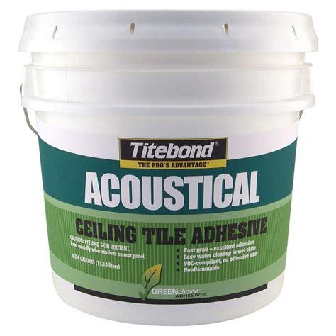glue on acoustical ceiling tiles titebond 4 gal greenchoice acoustical ceiling tile