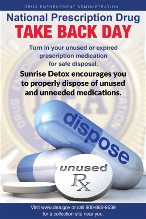 How To Properly Use A Detox For Tests by Take Back Day Is Saturday April 29th Detox