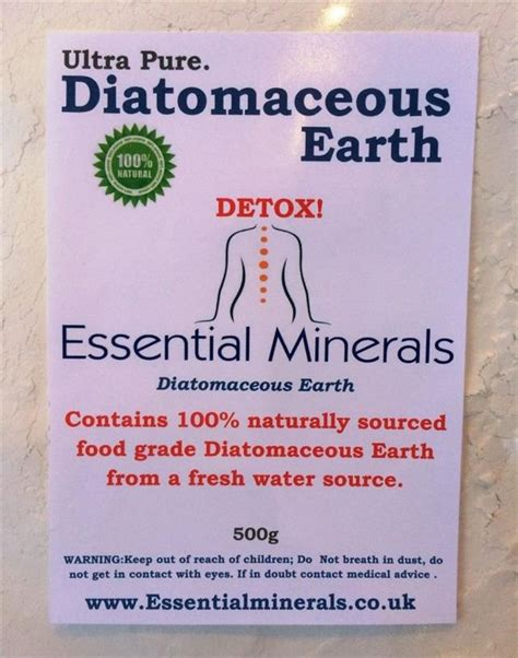 What Places Sell Detox by 10 Litres Of Codex Food Grade Diatomaceous