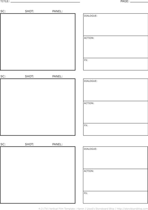 vertical storyboard template vertical storyboard template for free tidyform