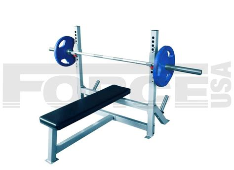 standard bench press bar length force usa fixed olympic bench press jme weightlifting