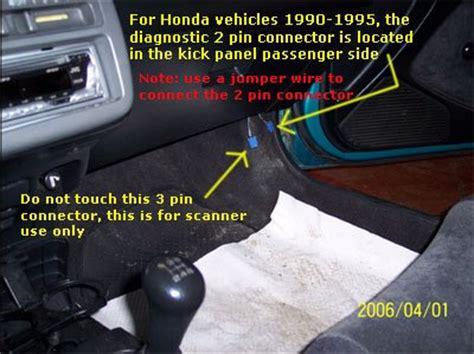 security system 1997 honda accord on board diagnostic system check engine light codes honda 1990 1995 obd1 code retrieval