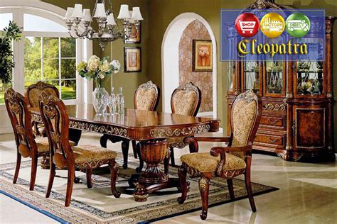 Traditional Formal Dining Room Furniture | cleopatra ornate traditional cherry formal dining room
