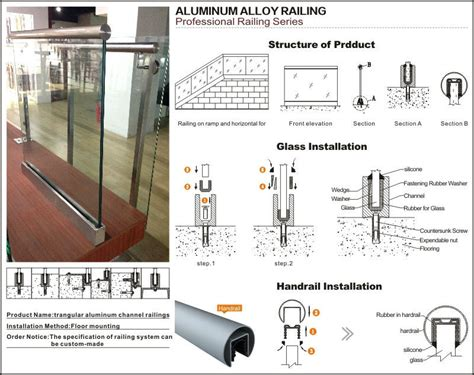 Stainless Steel Handrail Accessories For Balcony Glass