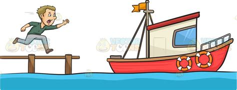 miss the boat miss the boat clipart by vector toons
