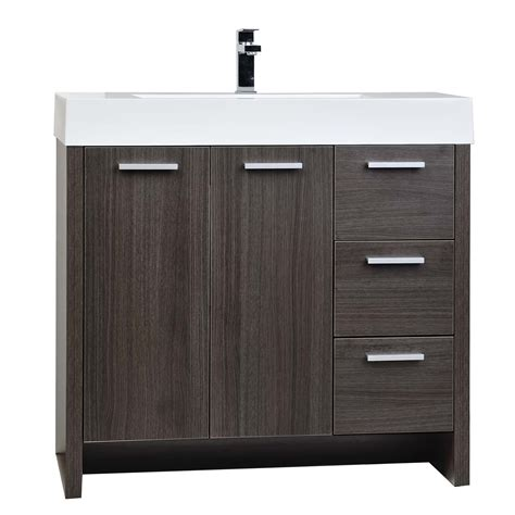 Oak Bathroom Vanities Buy 35 5 Quot Modern Bathroom Vanity Grey Oak Finish Tn Ly900 R Go Conceptbaths