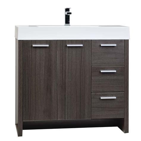 Buy 35 5 Quot Modern Bathroom Vanity Grey Oak Finish Tn Ly900 Where To Find Bathroom Vanities