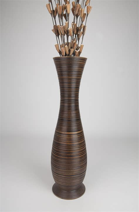 floor vase 30 inches wood brown ebay