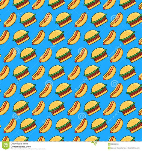 pattern html time seamless pattern with doodle hot dog vector illustration