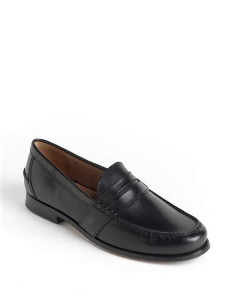 ralph loafers polo ralph arscott leather loafers in black
