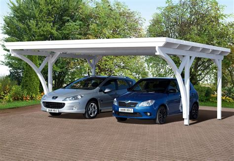 Cars Port by Carport 2 Voitures Toit Plat