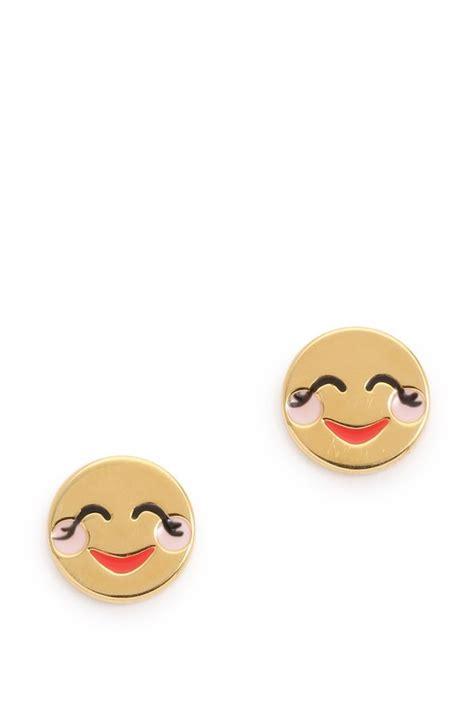spade emoji kate spade new york blushing emoji stud earrings