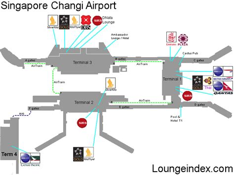 map of singapore airport terminals sin singapore airport guide terminal map lounges bars