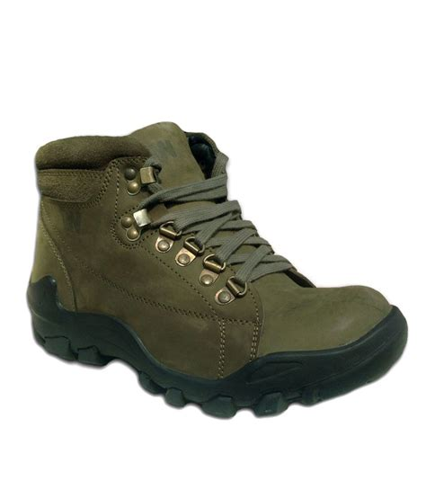 buy mens boots india weinbrenner mens green leather tuff boots buy