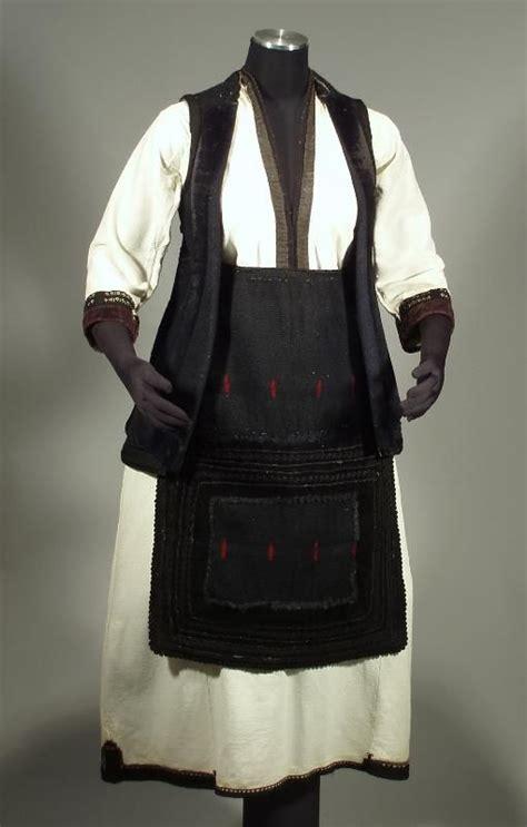 Etnik Vest macedonian folk costume ethnic peasant embroidered blouse