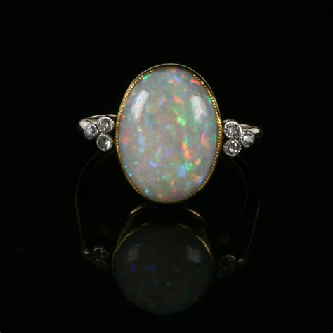 buy art deco opal and diamond ring from the 1920 s sold