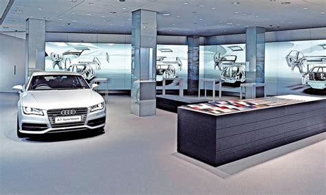 showroom audi audi makes showroom a tech rich showpiece for the brand