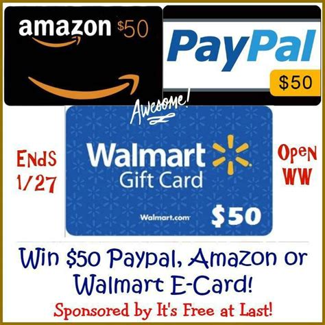 Free Amazon Gift Card Giveaway - one more cash gift 50 paypal amazon or walmart e gift
