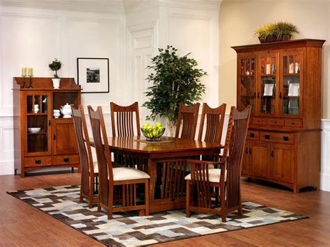 New Classic Mission Dining Room Amish Furniture Designed Amish Dining Room Furniture