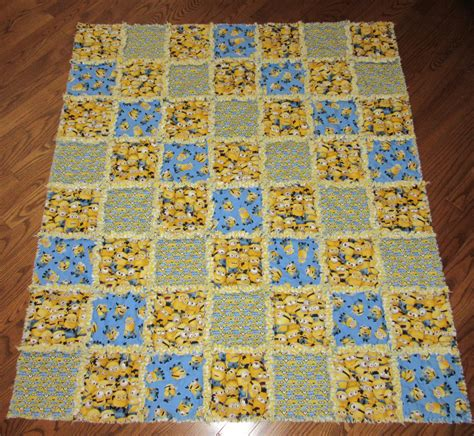 Fabric For Rag Quilt minion rag quilt despicable me fabric large child size