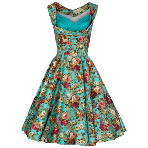Size ophelia vintage 1950 s floral spring garden party picnic dress