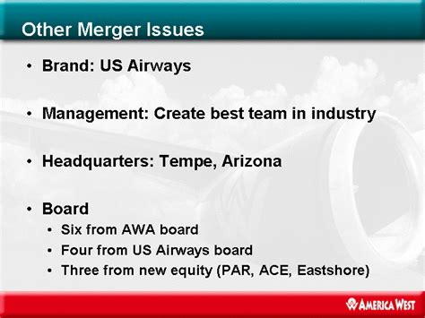 us airways american airlines merger implications the stengel angle other merger issuesbrand us airwaysmanagement create