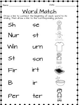 Ir, Er, and Ur Worksheets by Eli Burger | Teachers Pay