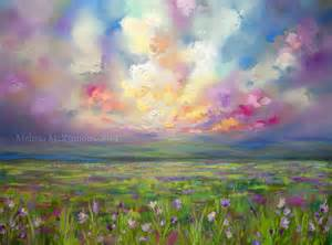Landscape Paintings Meaning Colourful Prairie And Big Sky Abstract Landscape Painting