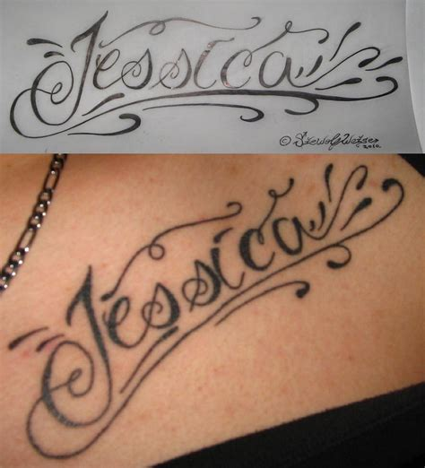 jessica name tattoo designs by lorfis aniu on deviantart