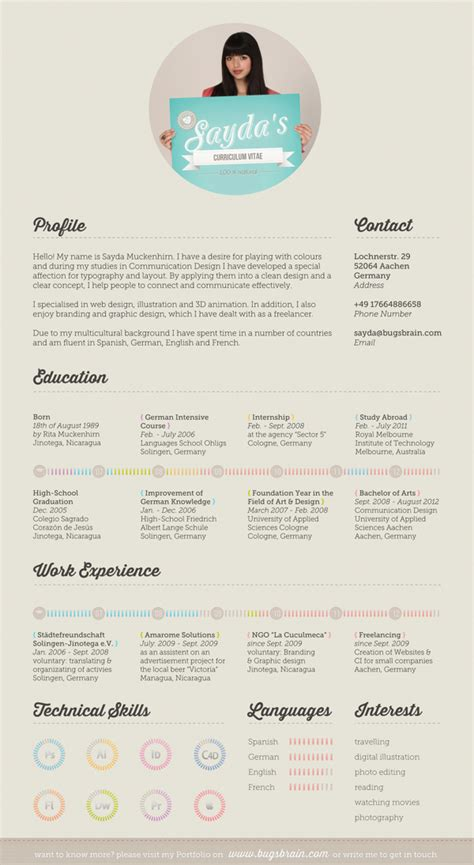 creative graphic design resume by jai mistry