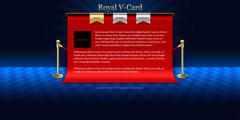 v card website psd templates