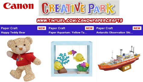 Creative Park Papercraft - paper crafts canon