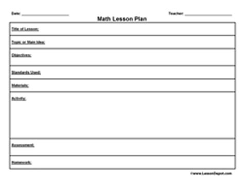 math unit plan template printable lesson plan template free to