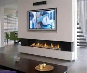 ethanol fireplace tv interior design