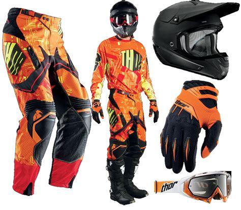 Thor Ktm Gear 2014 Thor Flux Block Gear Complete Set Orange Black