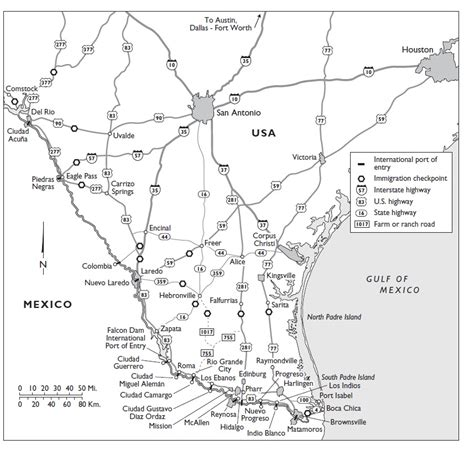 immigration checkpoints in texas map photographs