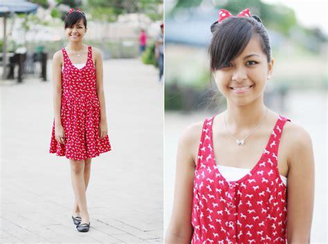 N Dress Minnie Sabrina Kancing bernadeth g h m printed dress hk disneyland